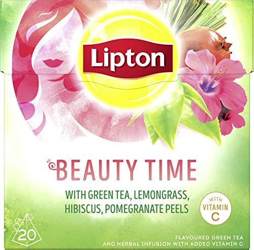 Lipton Grüner Tee Beauty Time Pyramidenbeutel, 20 Stück, 3er Pack