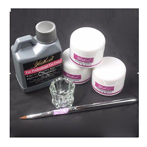 Byste professionista semplicemente kit di nail art set di strumenti, liquido acrilico/polvere acrilica/penna per unghie/chiaro bicchiere dappen dish