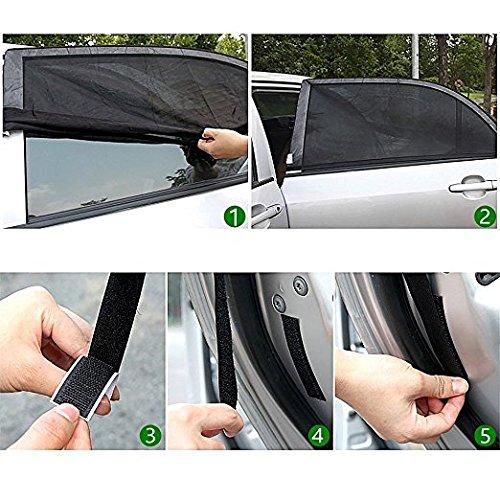 Universal Car Sun Shades | Provides Maximum UV Protection | Covers Side Rear Window | 2 x Premium Quality Mesh Material Car Sun Shade