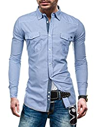 BOLF – Chemise casual – avec manches longues – GLO STORY 1135 – Homme