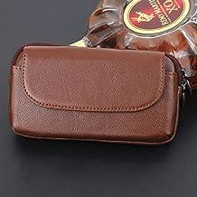 Funda de teléfono universal de 5.0 a 6.0 pulgadas de clip de cinturón horizontal de la carcasa Funda de cuero original de la cartera de bolsa de funda de cuero genuino con cierre magnético para Huawei P10 Plus, iPhone 7 Plus, Samsung Galaxy S8 Plus, LG G6 Etc ( Color : Brown )