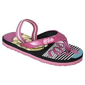 Barbie Kids Girls Black/Pink Color Flip-Flop(Size -5)
