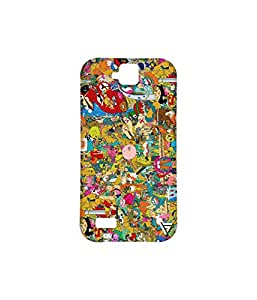 Vogueshell Cartoon Pattern Printed Symmetry PRO Series Hard Back Case for Huawei Honor Holly
