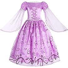 lucentezza adorabile designer nuovo e usato fornire un sacco di Amazon.it: vestito rapunzel bambina
