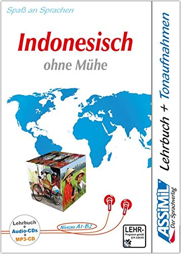 ASSiMiL Indonesisch ohne Mühe - Audio-Plus-Sprachkurs - Niveau A1-B2: Selbstlernkurs in deutscher Sprache, Lehrbuch + 4 Audio-CDs + 1 MP3-CD