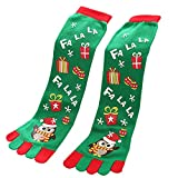 KPILP 1 Paar Unisex-Zehensocken Cute Christmas Soft Freizeitsocken Casual Baumwollsocken Long Socks Haussocken