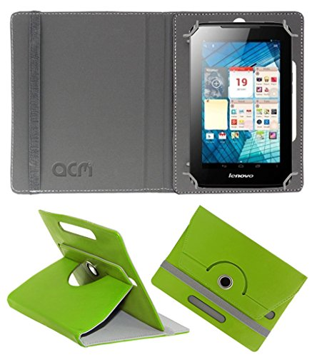 Acm Rotating 360° Leather Flip Case for Lenovo A1000l Cover Stand Green  available at amazon for Rs.149