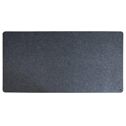FORMGUT Filzunterlage Antirutsch, Mousepad Schreibtisch-Unterlage Deskpad Filz Tisch Schreibtisch-Matte Mauspad, modern Rutschfest grau groß - Dunkelgrau