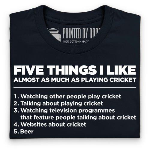 Five Things I Like - Cricket T-Shirt, Herren Schwarz