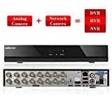 KKMOON 16CH DVR with HDD 16Channel Full 960H/D1 DVR HVR NVR HDMI P2P Network Onvif Digital Video Recorder + 1TB Hard Disk support Plug and Play Android/iOS APP CMS Browser View Motion Detection Email Alarm PTZ