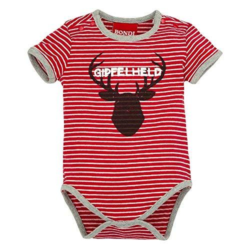 BONDI Body Geringelt ´Hirsch´, Stripe red/White 80 Tracht Baby Jungs Artikel-Nr.91128