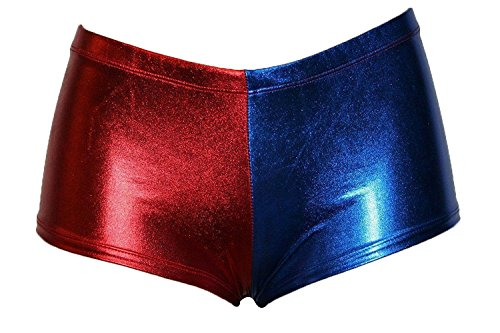 FK Styles Da Donna Harley Quinn Suicide Squad Multi Color Sexy Shorts e Leggings Blue/Red Medium