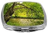Rikki Knight Compact Mirror, Beautiful Big Tree on Green Water Bank, 3 Ounce