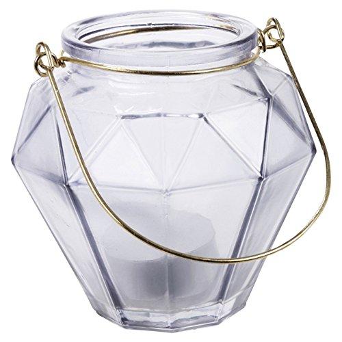 Juego de portavelas de cristal, 3