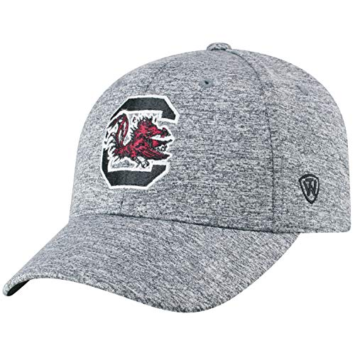 Top of the World NCAA South Carolina Fighting Gamecocks Men's Adjustable Steam Charcoal Icon Hat, Grey