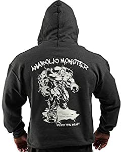 Anabolic Monster - Sweat Capuche Vêtement Bodybuilding - Medium, Anthracite