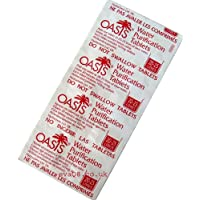 Oasis 167mg Emergency Water Purification Tablets Pack of 100 Tablets - Treats 2000 Litres