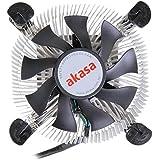 Akasa AK-CC7122BP01 Processor Cooler - Ventilador de PC (Procesador, Enfriador, Socket H2 (LGA 1155), Socket H (LGA 1156), Socket T (LGA 775), Core 2 Duo, Core i3, Aluminio, Azul, Aluminio)