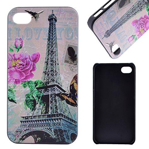 MOONCASE Etui pour iPhone 4G / 4S Hard House Case Coque Cover Étui Shell Mi10 Mi04 #1122
