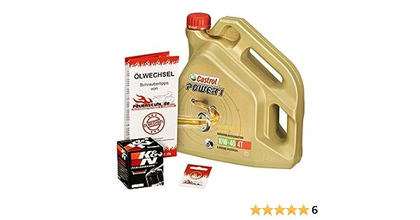 Castrol 10w 40 Öl K N Ölfilter Für Kawasaki Ninja Zx6r 636 02 06 Zx636a Zx636b Zx636c Ölwechselset Inkl Motoröl Filter Dichtring Auto