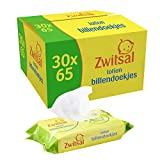 Zwitsal Baby Billendoekjes Lotion voor alle huidtypes - 30 x 65 wipes - Grootverpakking (1950 doekjes)