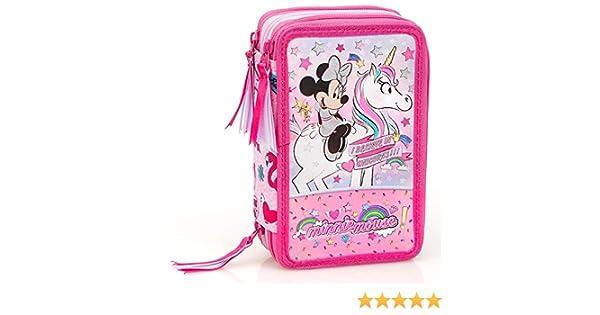 Disney Minnie Mouse Federmappe Federmäppchen Federtasche Schlampermäppchen Etui