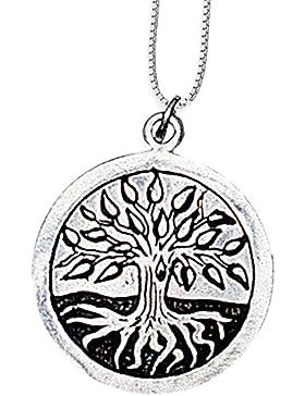 Mourie Anhänger Keltisches Sternzeichen (17. Aug - 8. Sep) 925er Silber Schmuck Amulett Genesung mit Kette Halskette...