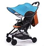 Universal Sonnensegel für Kinderwagen Kinderwagen Buggy Kinderwagen, Anti-UV-Winddicht Markise Sonnenschutz, Sonnenschirm