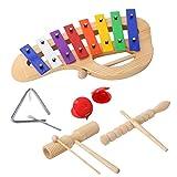 CAHAYA-Set-de-instrumentos-percusion-Juego-de-instrumentos-de-percusion-Xilofono-Maracas