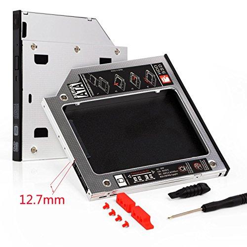 """Neuftech® 2,5""""SSD HDD Caddy SATA 3.0 Festplattenrahmen Adapter 12.7mm SATA zu SATA Laufwerkschacht für HP Dell Acer Asus Samsung Lenovo Laptop"""
