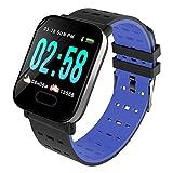 DKHSKITFJRLO Fitness Tracker A6 Smart Watch Cardiofrequenzimetro Sport Fitness Tracker Blood Pressure Call Promemoria Men Watch per iOS Regalo Android, Blu, Cina
