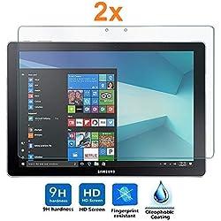 [Lot de 2] Verre Trempé pour Samsung Galaxy TABPRO S - S WiFi - S 4G - Book 12 WiFi, Protecteur d'écran qualité supérieure, Électronique Roi®