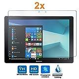 Pack 2X Pellicola salvaschermo per Samsung Galaxy TABPRO S - S WiFi - S 4G - Book 12 WiFi, Pellicole salvaschermo Vetro Temperato 9H+, di qualità Premium Tablet, Elettronica Re®