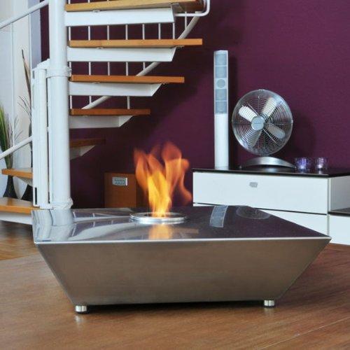 *HARK Design Gelkamin Fuego 10 Deko Tischfeuer Edelstahl*