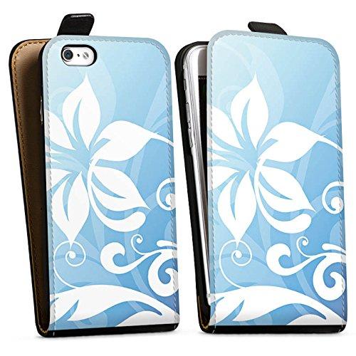 Apple iPhone X Silikon Hülle Case Schutzhülle Blume Ornament Floral Downflip Tasche schwarz