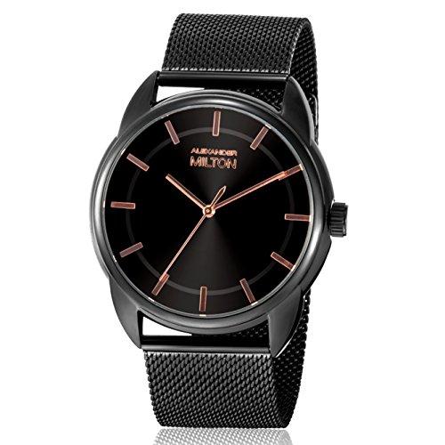 ALEXANDER MILTON - montre homme - TELLUS, noir