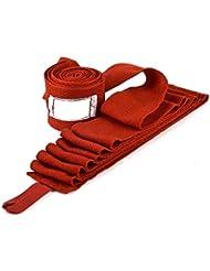 Yiyu Vendas de Boxeo Elásticas, Cinta Venda Muñeca de Mano 180 pulgadas para Boxeo Protección de Antebrazo para Boxeo - Color Rojo