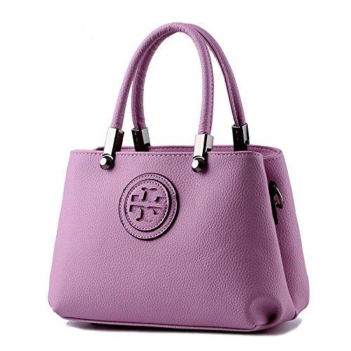 LDMB Damen-handtaschen Koreanische PU-Leder Cross Body Frauen Schulter Messenger Tasche purple taro