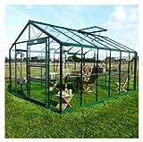 Serre de jardin en verre trempé Royal 36-13,69 m² SN36_10 - longueur : 4m46 Silver...