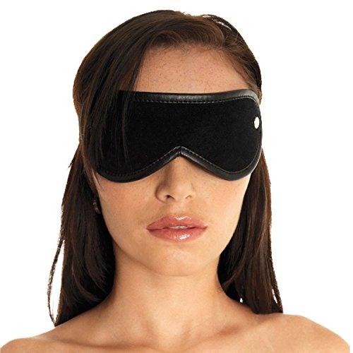Erotic Fashion ra7950 Augenbinde, schwarz Leder, 1er-Pack (1 x 1 Stück)