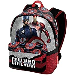 Mochila Capitan America Civil War Marvel grande