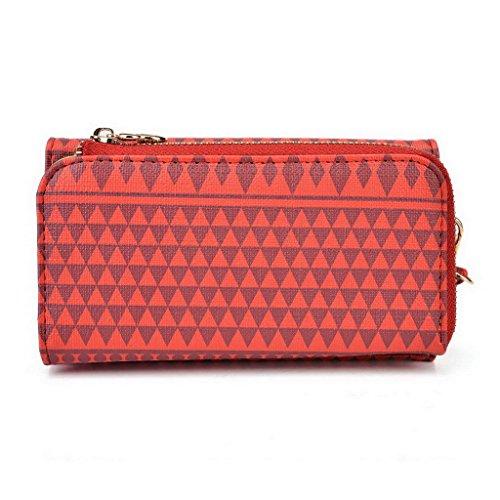 Kroo Pochette/étui style tribal urbain pour HTC Desire 326g Dual SIM Multicolore - Noir/blanc Multicolore - rouge
