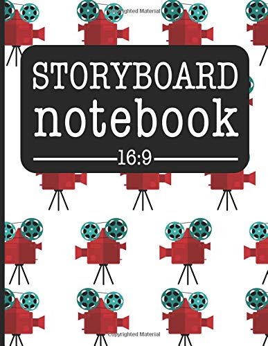 Storyboard Notebook 16:9: Filmmaker Notebook With Movie Camera Design To Sketch And Write Out Scenes With Easy-To-Use Template par HJ Designs