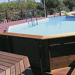 K2O - Piscina de madera 643 x 410 x 130 cm + depuradora de arena
