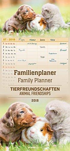 Familienplaner Tierfreundschaften 2018: 5 Spalten