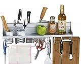 HJHY® Regal, Space Aluminium 60m Doppelte Tasse Revolver Raum Aluminium Anhänger Küche Regal Einfach und elegant