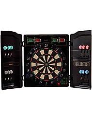 Best Sporting elektronische Dartscheibe OXFORD, LED Dartautomat Cabinet mit 12 Dartpfeilen, Ersatzsspitzen und Netzteil