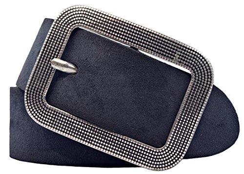 VANZETTI Damen Ledergürtel Made in Germany dunkelblau 90
