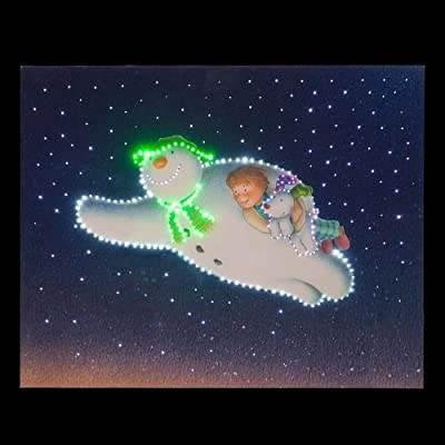Snowtime Battery Operated Wall Canvas Snowman & Snowdog The Flyng Scene - cheap UK light store.