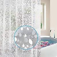 Barbieya Shower Curtain (White,Stone)